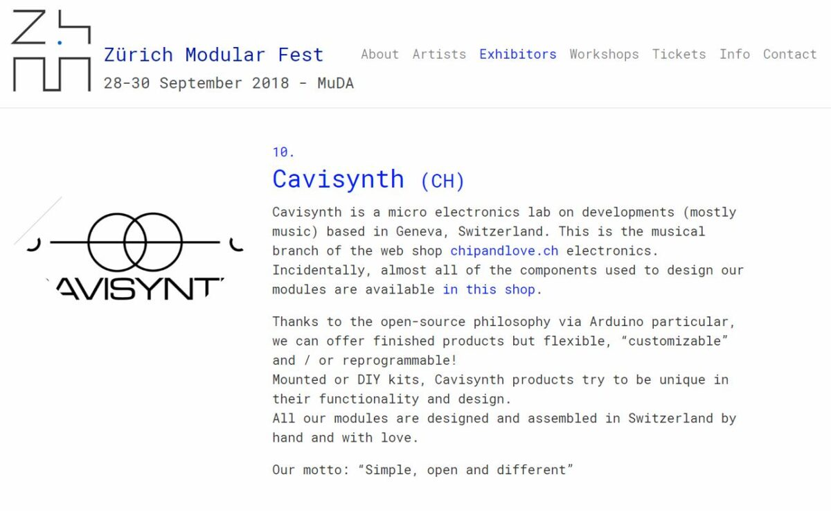 Cavisynth modular – Eurorack DIY kit – Eurorack modules and